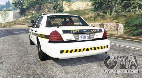 GTA 5 Ford Crown Victoria State Trooper [replace] rear left side view