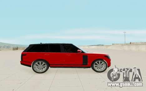 Land Rover Range Rover Vogue for GTA San Andreas