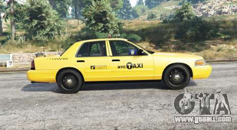 GTA 5 Ford Crown Victoria Undercover Police [replace] left side view