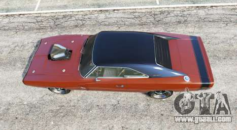 GTA 5 Dodge Charger RT (XS29) 1970 v4.0 [replace] back view