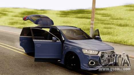 Audi SQ7 for GTA San Andreas back view