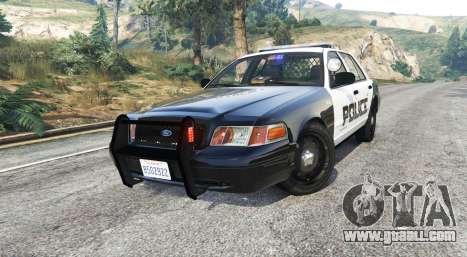 GTA 5 Ford Crown Victoria LSPD [replace] right side view