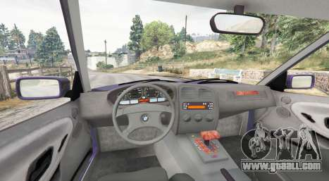 GTA 5 BMW M3 (E36) Touring v2.0 [replace] rear right side view