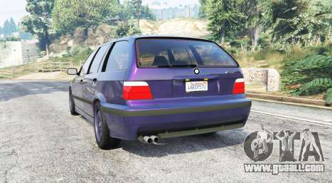 GTA 5 BMW M3 (E36) Touring v2.0 [replace] rear left side view