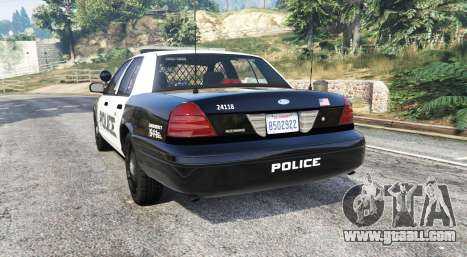 GTA 5 Ford Crown Victoria LSPD [replace] rear left side view