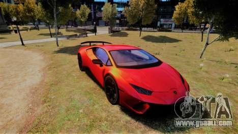 Lamborghini Huracan Performante for GTA 4
