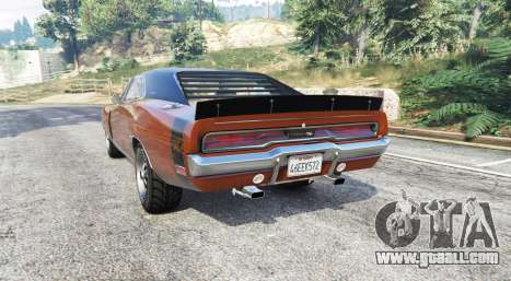GTA 5 Dodge Charger RT (XS29) 1970 v4.0 [replace] rear left side view