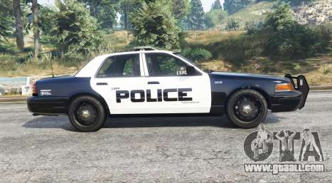 GTA 5 Ford Crown Victoria LSPD [replace] left side view