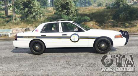 GTA 5 Ford Crown Victoria State Trooper [replace] left side view