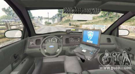 GTA 5 Ford Crown Victoria Undercover Police [replace] rear right side view