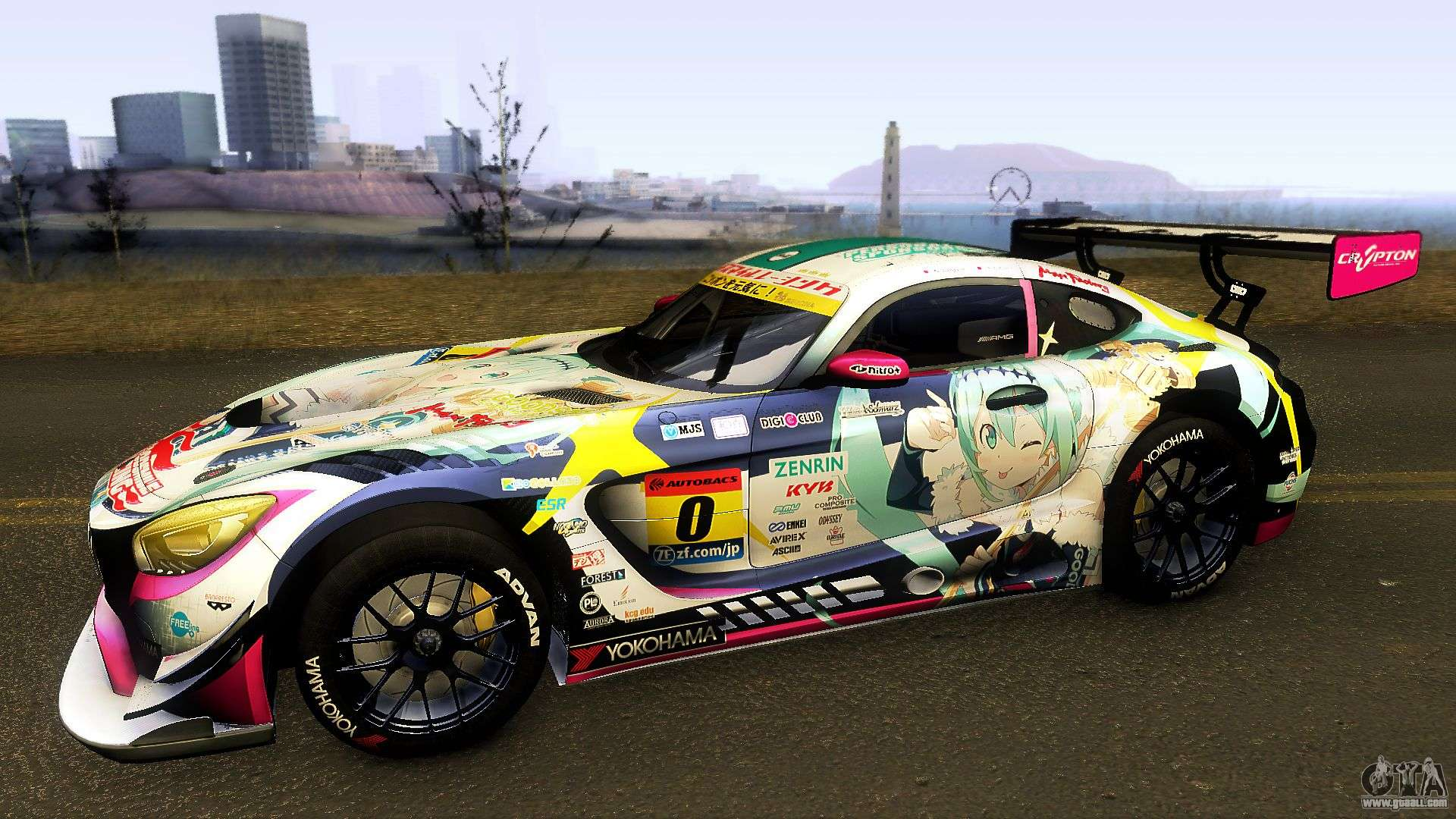 Mercedes benz amg gt3 goodsmile racing 2018 for gta san for Mercedes benz race cars