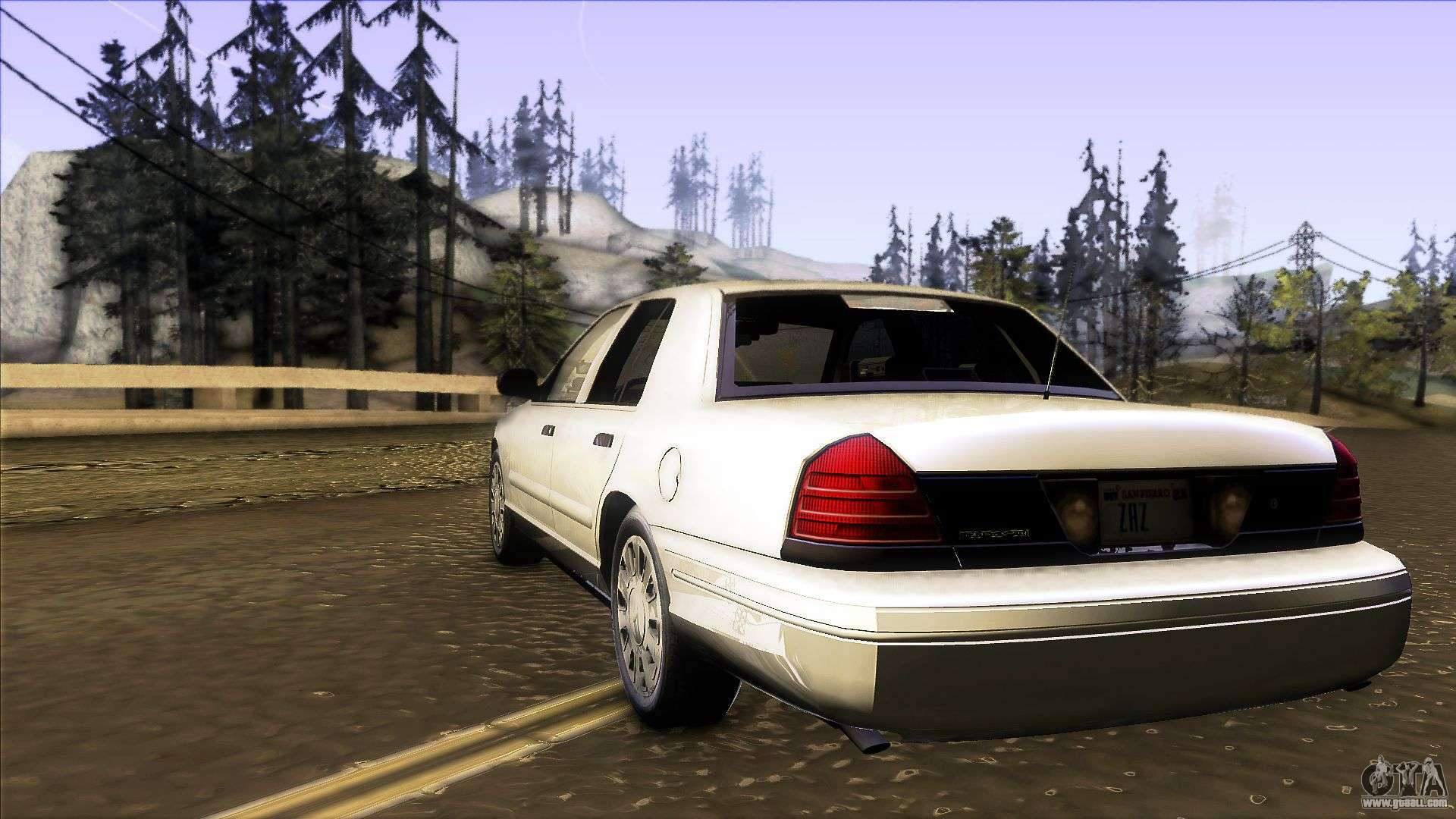 Ford Crown Victoria Unmarked  For Gta San Andreas Back Left View