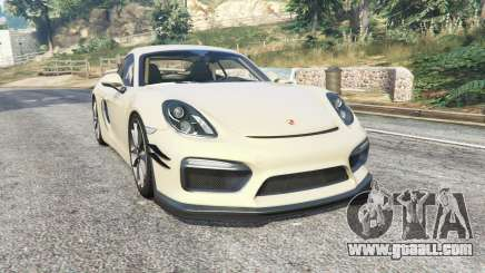 Porsche Cayman GT4 2016 spoiler v1.2 [replace] for GTA 5