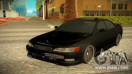 Toyota Mark 2 black for GTA San Andreas