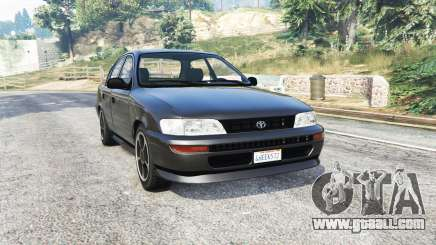 Toyota Corolla v1.15 black edition [replace] for GTA 5