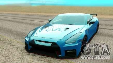 Nissan GTR NISMO blue for GTA San Andreas