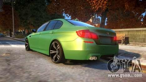 BMW M5-series F10 Azerbaijan style for GTA 4 back left view