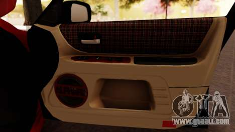 Toyota Altezza for GTA San Andreas bottom view