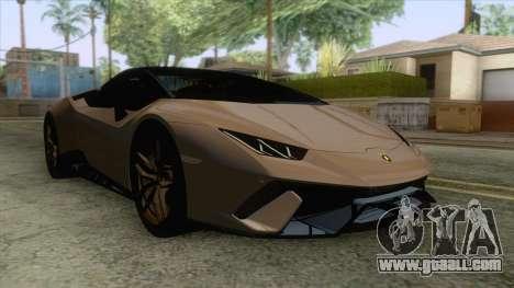 Lamborghini Huracan Performante Spyder for GTA San Andreas
