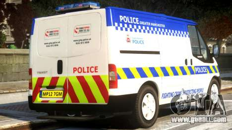 British Manchester Police Ford Transit for GTA 4