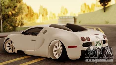 Bugatti Veyron for GTA San Andreas left view