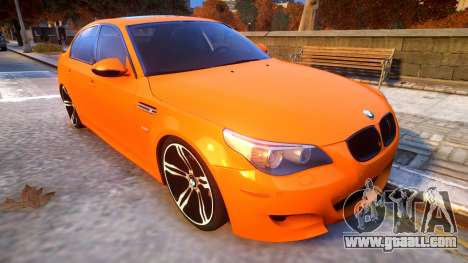 BMW M5 E60 Davidic Memory update 1.2 for GTA 4