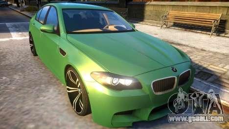 BMW M5-series F10 Azerbaijan style for GTA 4 inner view
