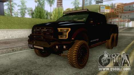 Ford F150 Hennessey Velociraptor for GTA San Andreas back left view