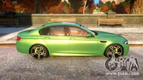 BMW M5-series F10 Azerbaijan style for GTA 4 back view