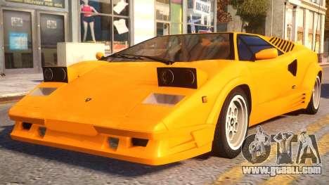 1989 Lamborghini Countach 25th Anniversary v1.1 for GTA 4