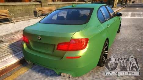BMW M5-series F10 Azerbaijan style for GTA 4 right view