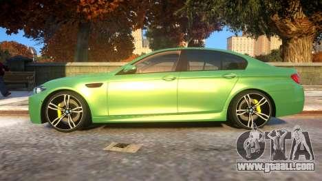 BMW M5-series F10 Azerbaijan style for GTA 4 left view