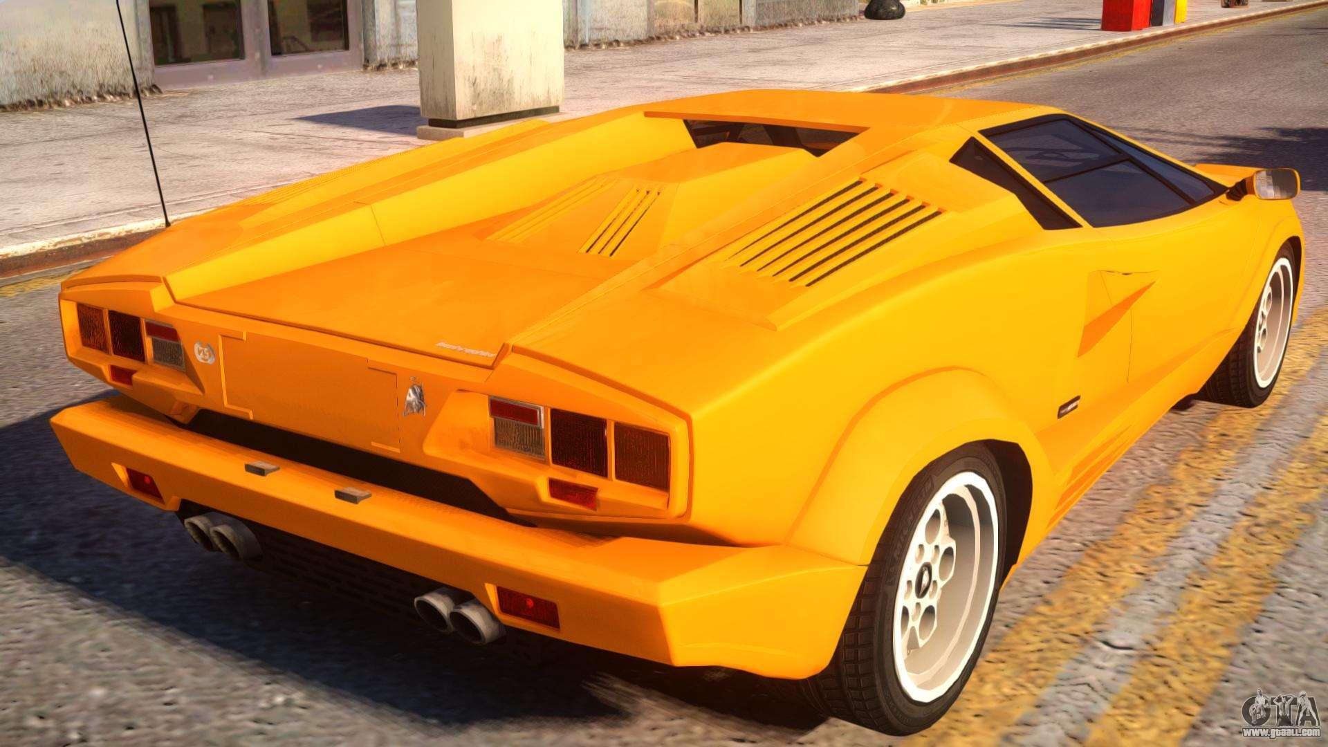 1989 Lamborghini Countach 25th Anniversary V1 1 For Gta 4