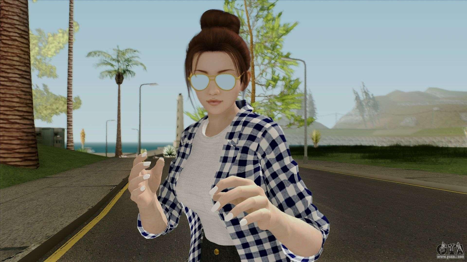 Skin Momiji Gta Sa: Mai Shiranui Korean Style V3 For GTA San Andreas