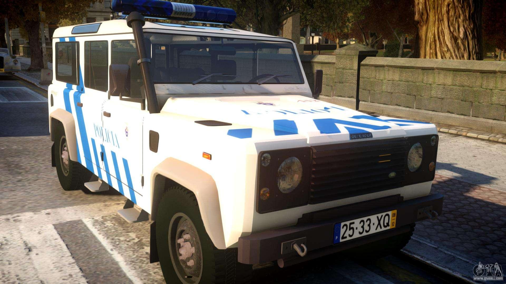 Land Rover Defender Mule >> Land Rover Defender Police V2 for GTA 4