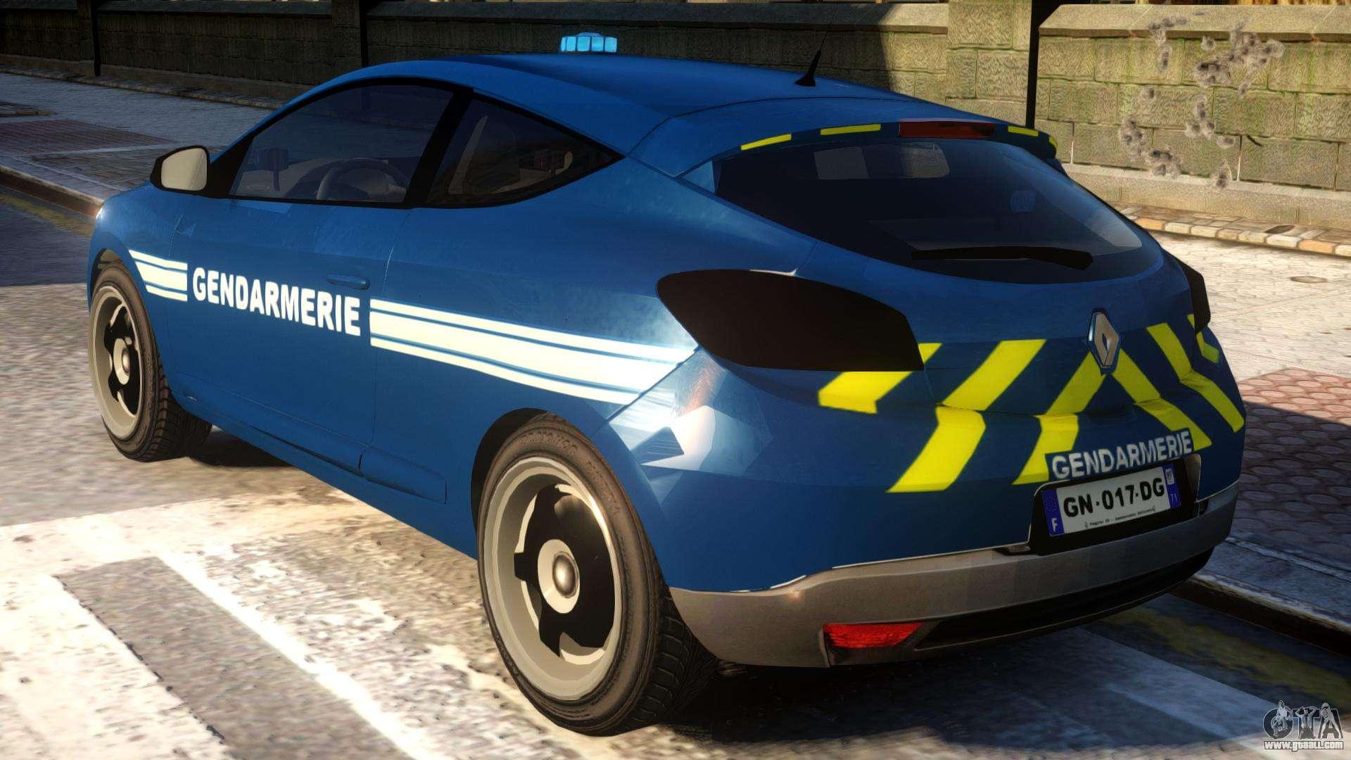 Renault Megane Gendarmerie For Gta 4