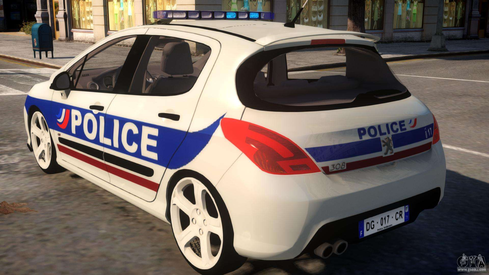 peugeot 308 gti police nationale for gta 4. Black Bedroom Furniture Sets. Home Design Ideas