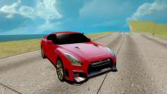 Nissan GTR Nismo red for GTA San Andreas