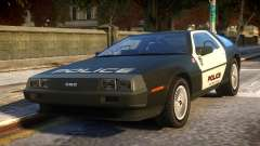 DeLorean DMC-12 Police for GTA 4