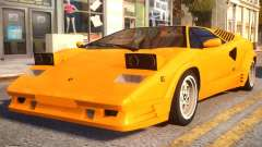 1989 Lamborghini Countach 25th Anniversary v1.1 for GTA 4