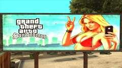 GTA 5 Girl Poster Billboard for GTA San Andreas