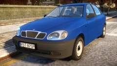 Daewoo Lanos Sedan S PL 1997 for GTA 4
