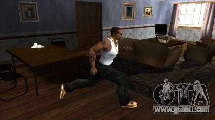 Running indoors for GTA San Andreas