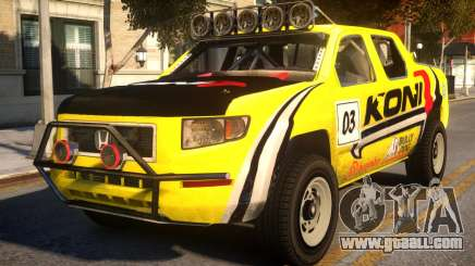 Honda Ridgeline Koni for GTA 4