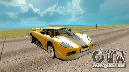 Koenigsegg Regera for GTA San Andreas