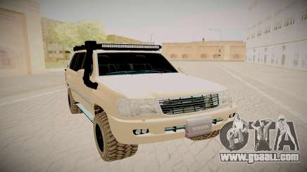 Toyota Land Cruiser 100 silver for GTA San Andreas