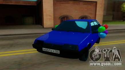 VAZ 21099 blue for GTA San Andreas
