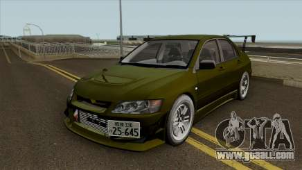 Kobayakawa Mitsubishi Evolution VII for GTA San Andreas
