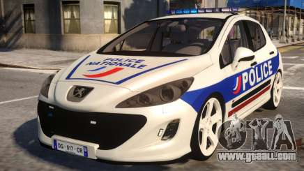 Peugeot 308 GTi Police Nationale for GTA 4