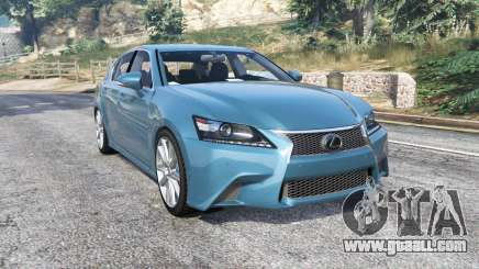 Lexus GS 350 F-Sport 2013 v1.1 [replace] for GTA 5